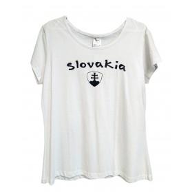 Dámske tričko SLOVAKIA, biele