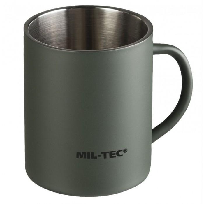 Hrnček MIL-TEC dvojplášťový 450 ml, olive