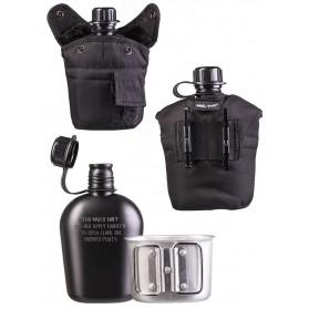 Fľaša MIL-TEC poľná s pohárom, čierna