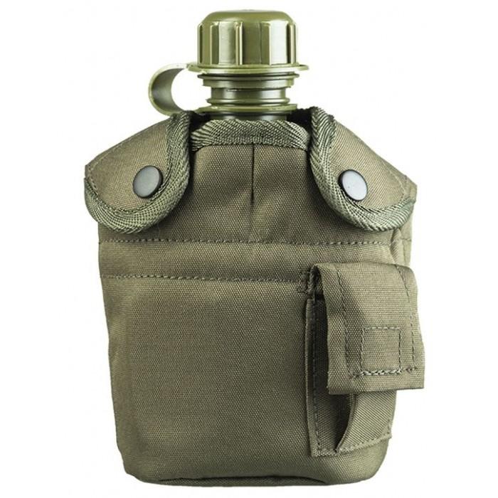 Fľaša MIL-TEC poľná s pohárom, olive