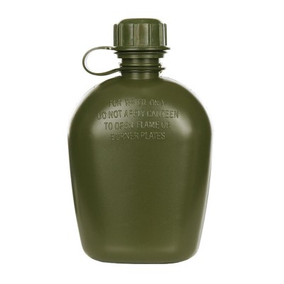 Plastová FOSCO poľná fľaša, olive