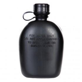 Plastová FOSCO poľná fľaša, čierna