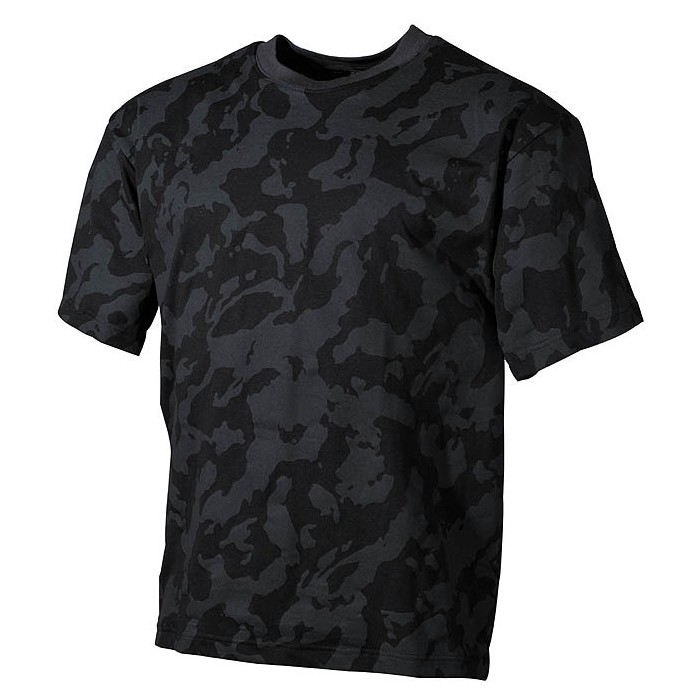 Tričko russian night camo
