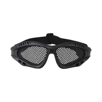 Okuliare KOMBAT s mriežkou, čierne