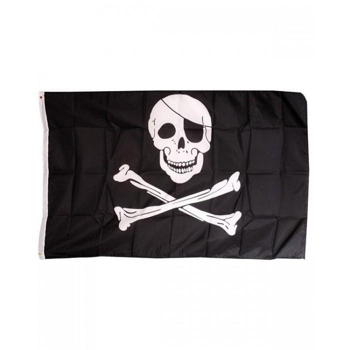 """Vlajka KOMBAT Pirátska veľká 5x3"""""""